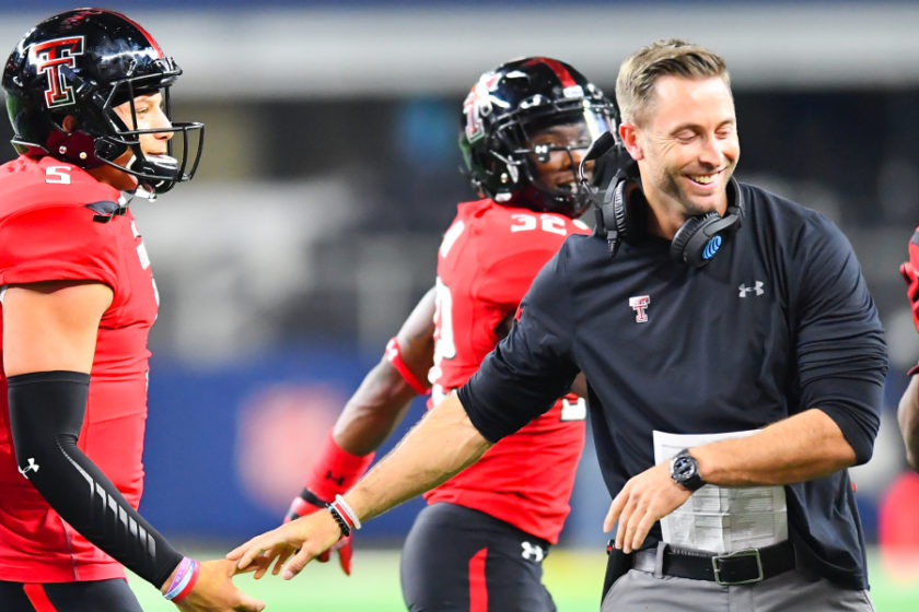 Kliff Kingsbury – The Head Coach of The American Football Franchise Arizona Cardinals played for the Texas Tech Red Raiders Who Once Played Under Coaches Spike Dykes and Mike Leach on Years 1998-1999 and 2000-2002