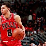 Zach LaVine - American National Basketball Player of the team Chicago Bulls